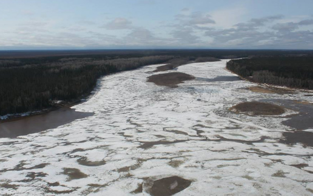 Ice Jam on the Abitibi River, PHOTO by Moose Creek Fire and Rescue