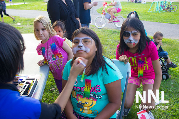 A Canada Day party is not a Canada Day party without some face painting.