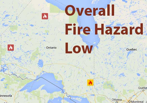 Overall the Fire Hazard in the Northwest is Low except in the Red Lake District where it is High