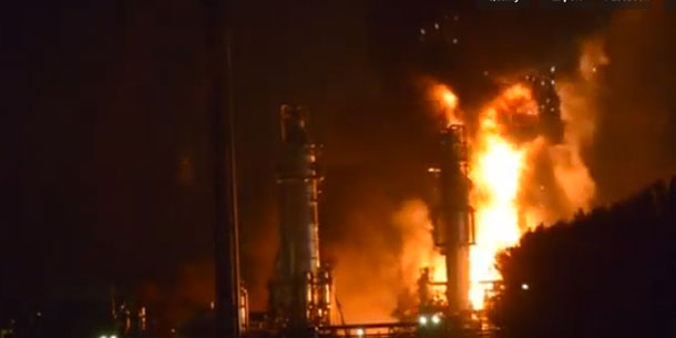 An explosion at a Shell Chemical Plant has fortunately not seen a large loss of life.