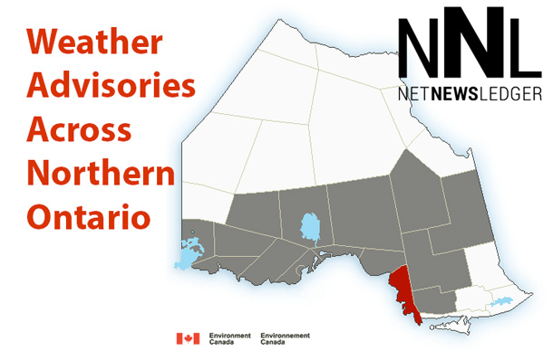 Weather Advisories, Thunder Bay, Wawa, Nipigon, Wawa, Rossport