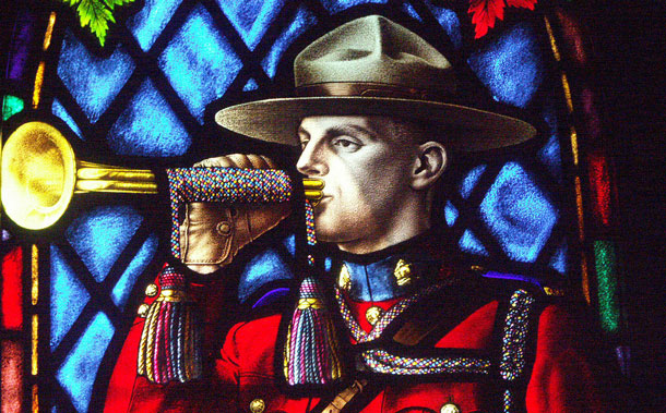 Stained Glass window at Regina RCMP Chapel
