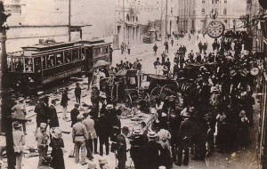 Aftermath of attacks against Serbs in Sarajevo on June 29 1914