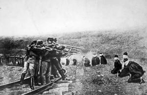 Austrian firing squad executing Serbs in 1917