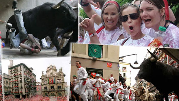 The Pamplona Bull Run is an annual tradition.