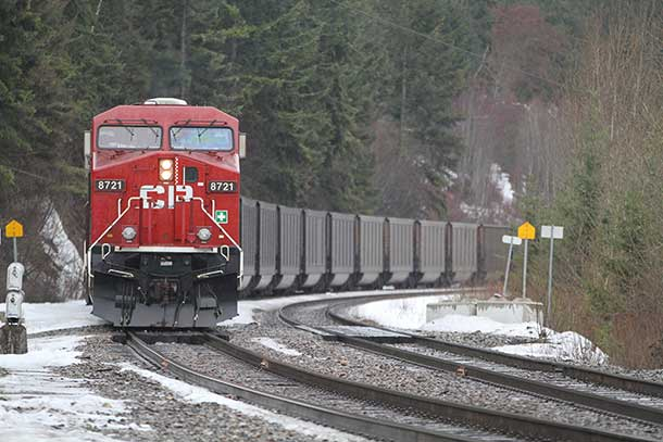 CP Rail hauling coal... is a train the way for the Ring of Fire or would a road make more sense?