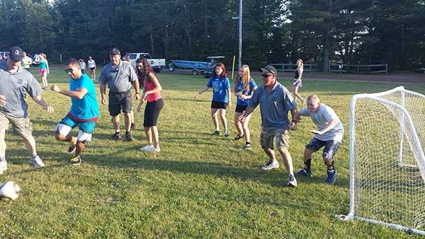 Camp Quality 2014 - Police challenge the campers at soccer