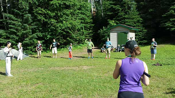 Learning new skills at Camp Quality 2014
