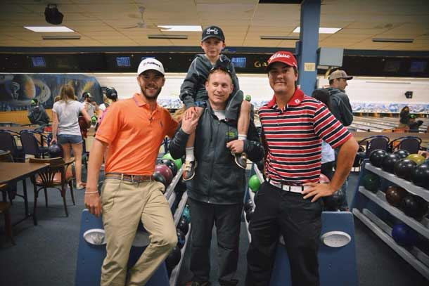 The Roar Starts Here... Denver and Peter with PGA Tour players, Alexis and Max