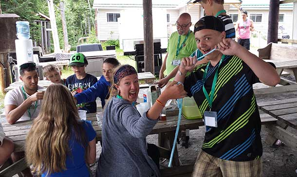 Camp Quality 2014 - Playing with Flubber
