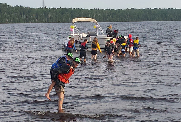 Swimming at Camp Quality 2014