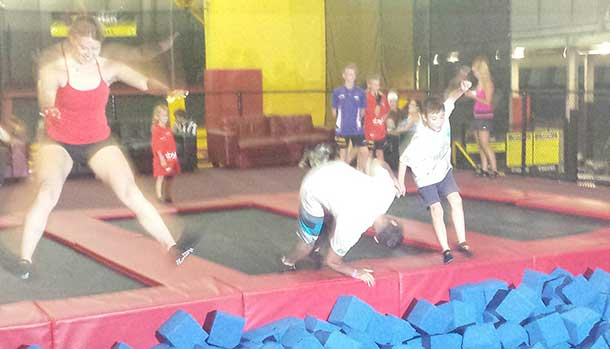 Trampoline Park proved a hit with everyone.