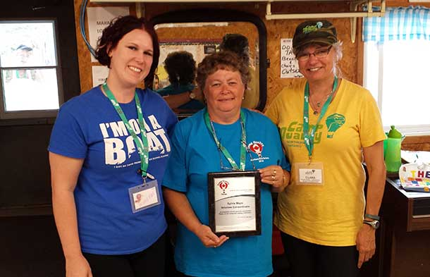 Recognized exceptional volunteers at Camp Quality