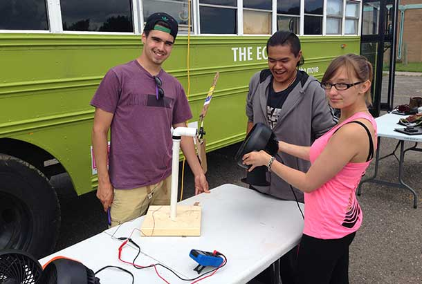 FNNRYEP Participants Test Their Handmade Wind Turbine
