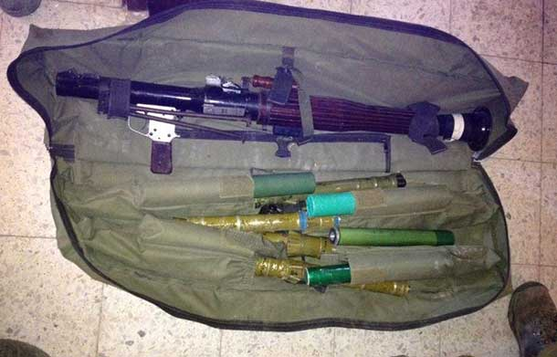 Israeli Defence Forces Image of weapons found by Golani Brigade