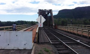 The bridge is safe for trains but not cars or people according to CN