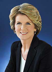 Julie Bishop, Austrailan Minister of Foreign Affairs