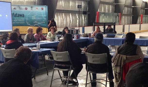 Matawa First Nation Meeting in Marten Falls