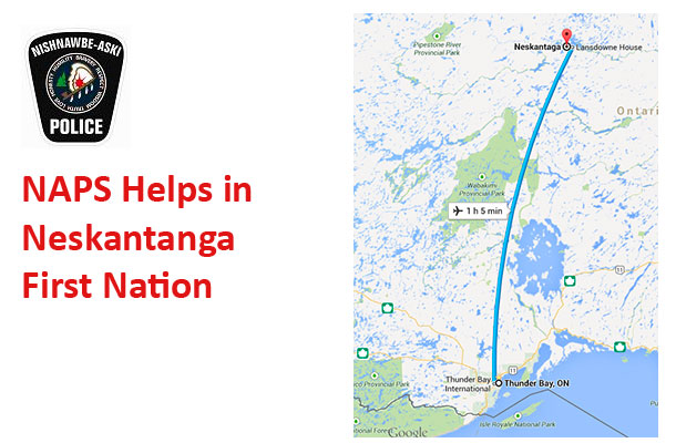 A possibly dangerous situation in Neskantaga First Nation has been resolved.