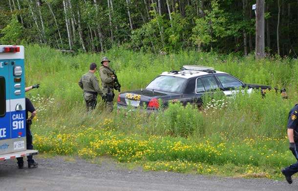OPP Tactical Unit on Fort William First Nation