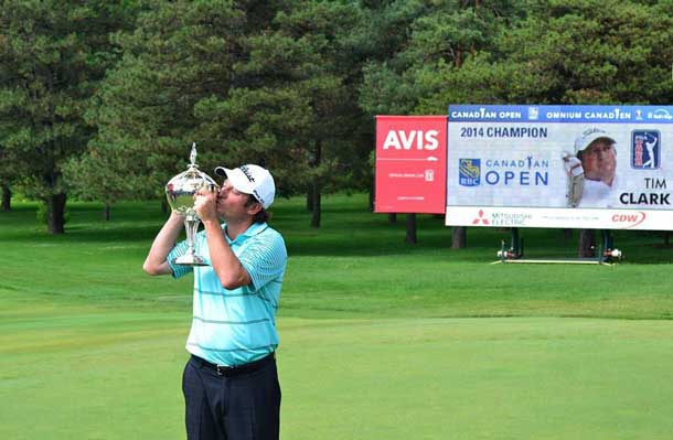 Tim Clark of South Africa is the 2014 RBC Canadian Open Champion