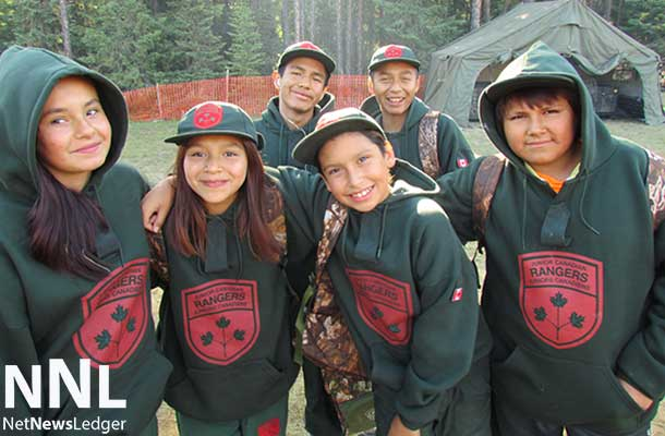 Six happy Junior Rangers getting set to leave for a training site early in the morning.