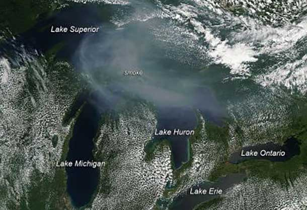 Smoke from Canadian Wild fires