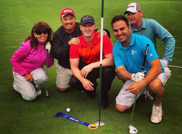 Team Sencia wins with a low score of 49 at the Porter Air Celebrity Pro-Am