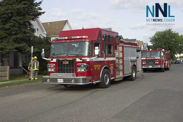 Quick response by Thunder Bay Fire Rescue to a call on Heron Street. Photo by Braedon Campeau