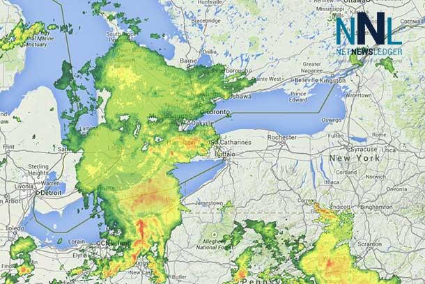 Toronto Weather Radar at 21:32EDT July 27 2014