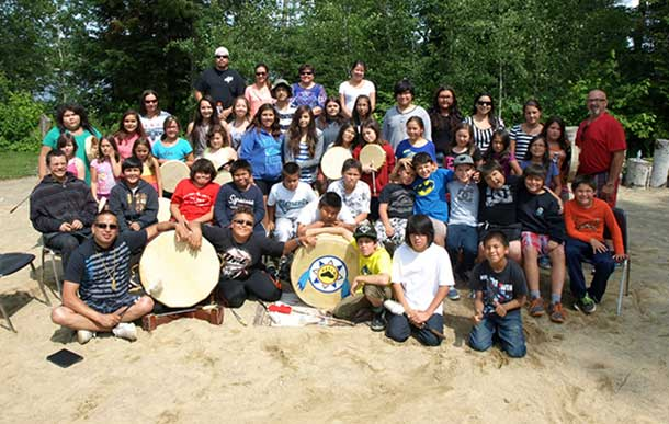 WABUN YOUTH from the First Nation communities of Beaverhouse, Brunswick House, Matachewan and Mattagami came together for their Annual Youth Gathering held from July 14 to 25 in Elk Lake, Ontario. Pictured are the junior youth group who took part in the event.