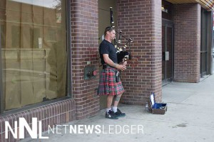 Bagpipes in downtown Fort William