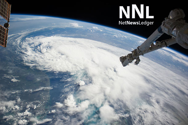 One of the Expedition 40 crew members aboard the Earth-orbiting International Space Station, some 227 nautical miles above Earth, photographed this image of Tropical Storm Arthur early on July 2, 2014. Image Credit: NASA