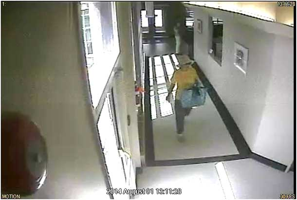 Thunder Bay Police are seeking this robbery suspect in an August 1 2014 robbery