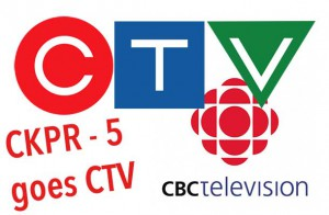 CTV will replace CBC Programming on CKPR Television in Thunder Bay