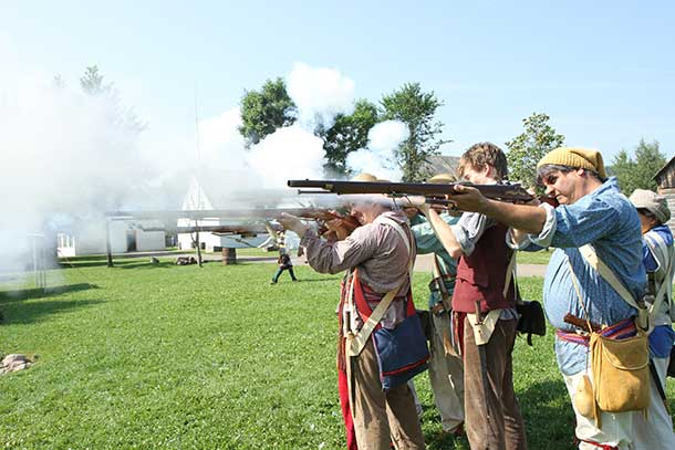 The echo of Black Powder Muskets and the War of 1812 will fill Fort William Historical Park