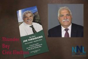 Westfort Councillor Joe Virdiramo is seeking a fourth term on Thunder Bay City Council representing Westfort