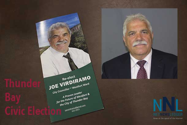 Westfort Councillor Joe Virdiramo is seeking a fourth term on Thunder Bay City Council representing Westfort