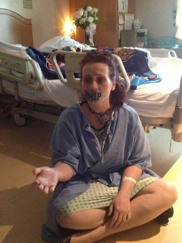 Mandi O'Connor stuck in hospital waiting for life saving surgery