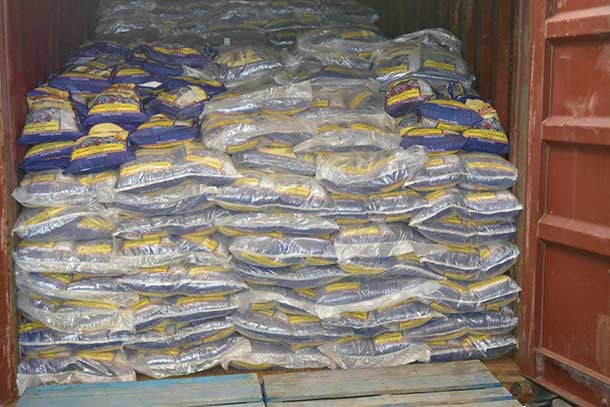 RCMP and CBSA show Sea container containing over 500 sacks of rice