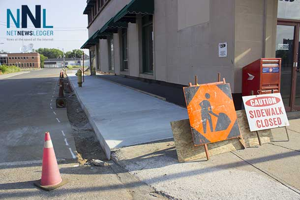 Repairs to streets and sidewalks in the downtown Fort William are working toward improving the area