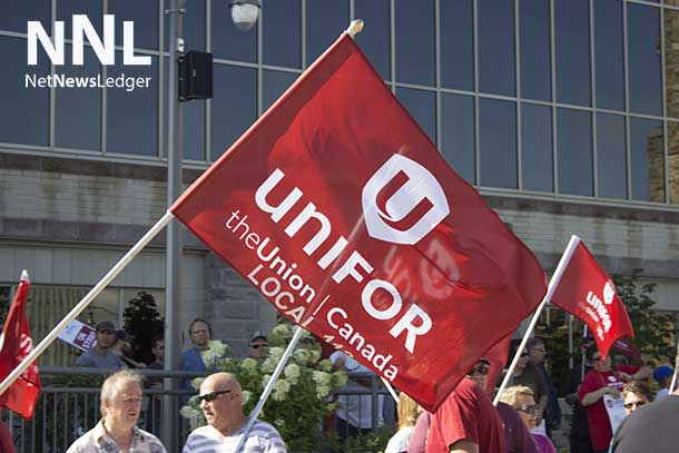 Unifor Rally at Thunder Bay City Hall