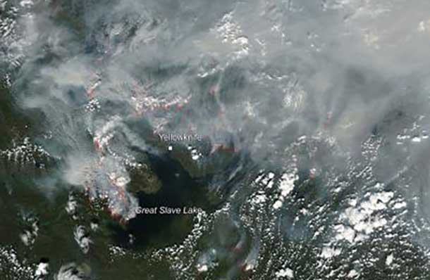 Ontario Fire Crews are helping with major fires in western Canada.