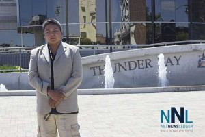 Clyde Brandon Moonias at Thunder Bay City Hall