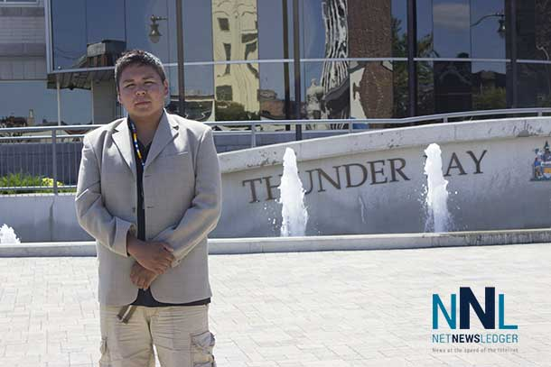Clyde Brandon Moonias at Thunder Bay City Hall