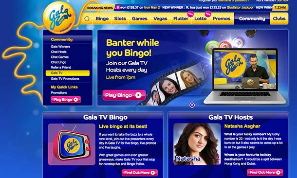 Gala Bingo have teamed up with TVCatchUp.com to introduce a brand new and exciting TV channel, Gala TV.