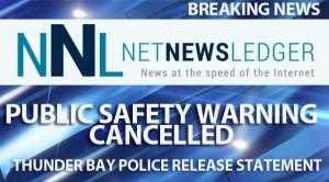 Public Safety Warning Cancelled