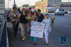 Walking in the Candlelight Vigil in Thunder Bay thousands came to share their determination that our city be a safer place.
