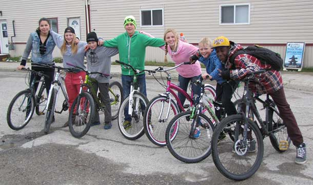 The young people acting as extras are, L to R: Emma, Hannah, Curtis, Nick, Annikki, Donald, & Sheldon.