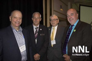 l-r - Bruce M. Firestone, Mayor Dave Canfield, Phil Vines from Red Lake and Thunder Bay Mayor Hobbs